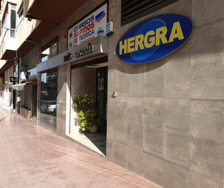 Autoescuela Hergra entrada,